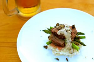 Venison Medallions with Whiskey, Mushroom & Horseradish Cream Sauce